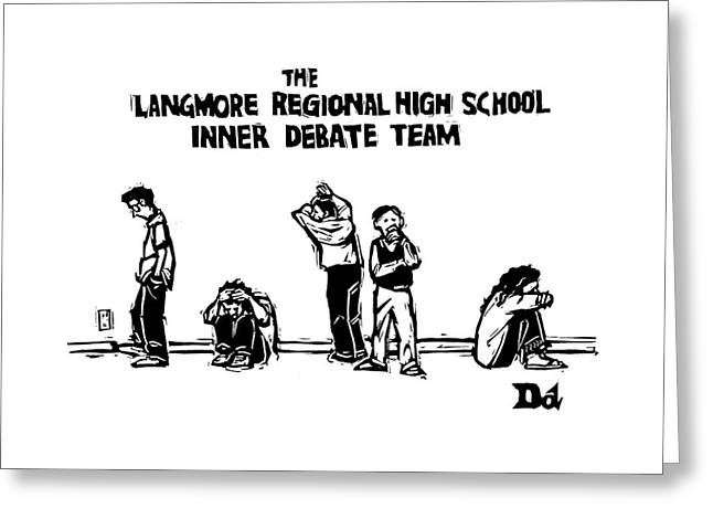 The Langmore Regional High School Inner Debate Greeting Card