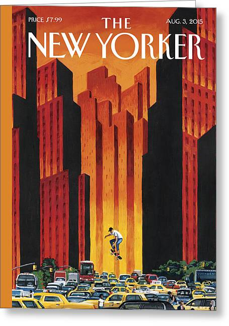 New Yorker August 3rd, 2015 Greeting Card by Mark Ulriksen