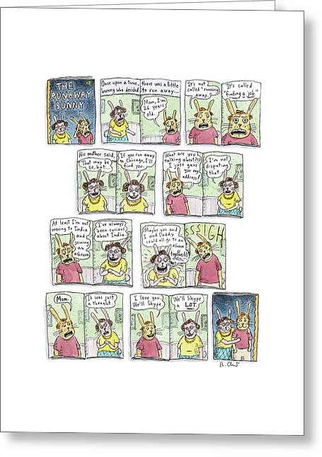 The Runaway Bunny Greeting Card by Roz Chast