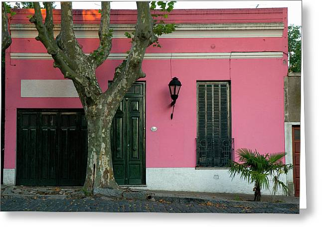 Uruguay Colonia Del Sacramento Barrio Greeting Card by Inger Hogstrom