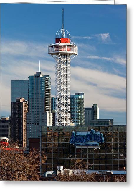 Usa, Colorado, Denver, City View Greeting Card by Walter Bibikow