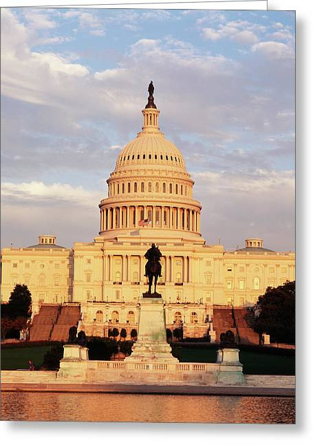 Usa, Washington Dc, Capitol Building Greeting Card by Walter Bibikow