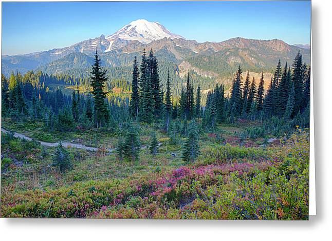 Usa, Washington State, Mount Rainier Greeting Card