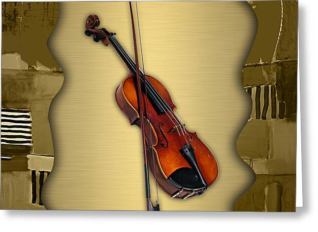 Violin Collection Greeting Card
