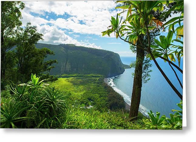 Waipio Valley, Hamakua Coast, Big Greeting Card