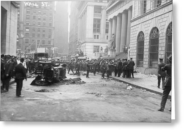 Wall Street Bombing, 1920 Greeting Card