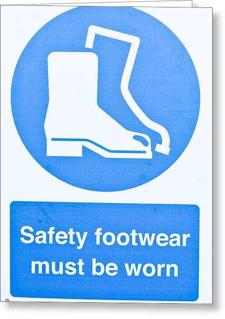 Warning Sign Greeting Card by Tom Gowanlock