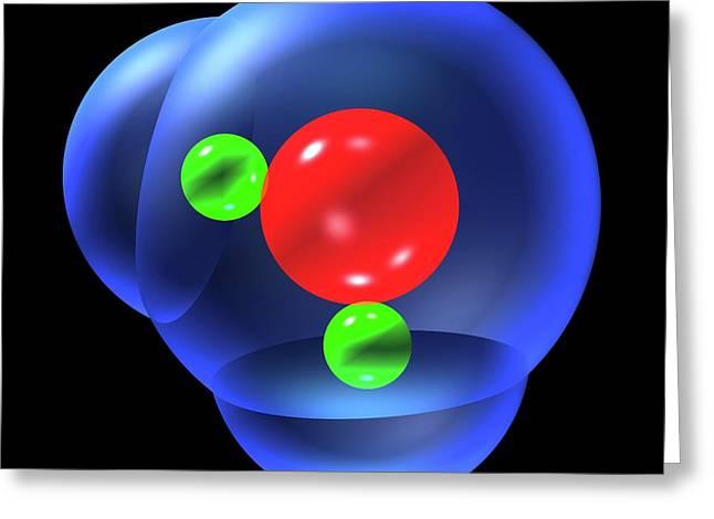 Water Molecule Greeting Card by Russell Kightley