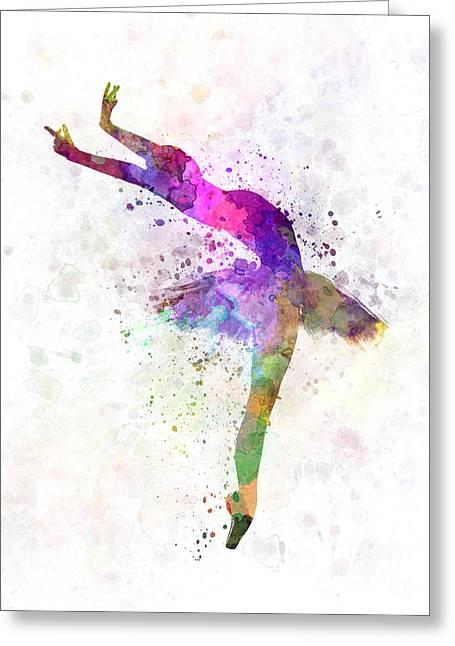 Woman Ballerina Ballet Dancer Dancing  Greeting Card by Pablo Romero