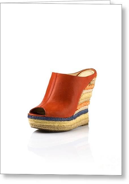 Womens Fashion Shoes Greeting Card by Nikita Buida