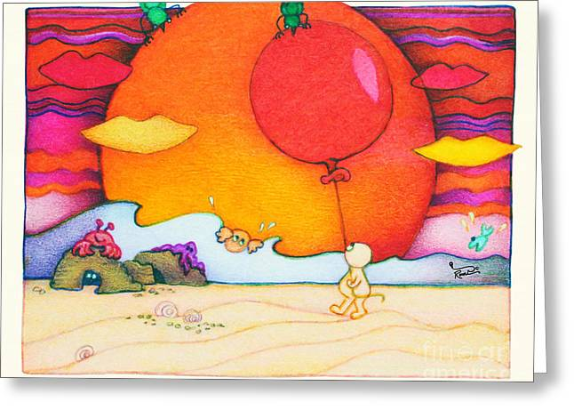 Woobies Character Baby Art Colorful Whimsical Design By Romi Neilson Greeting Card by Megan Duncanson