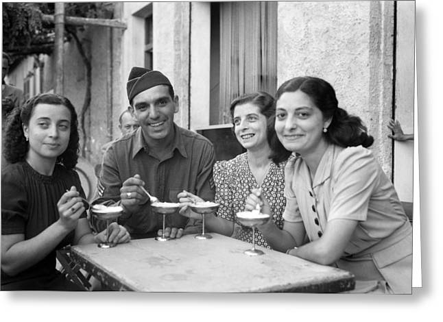 Wwii Sicily, 1943 Greeting Card by Granger