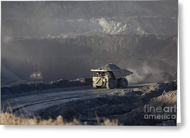 Wyoming Coal Mine Greeting Card
