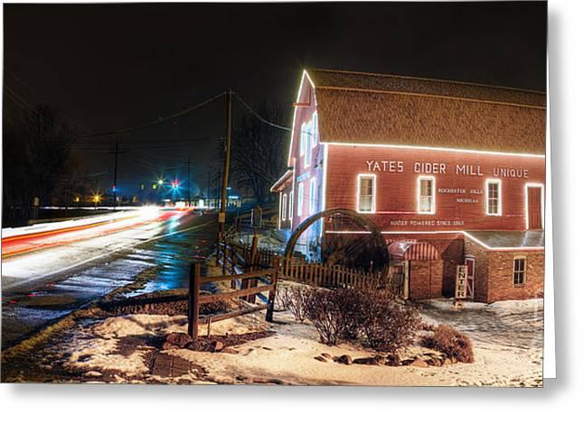 Yates Cider Mill At Christmas Greeting Card