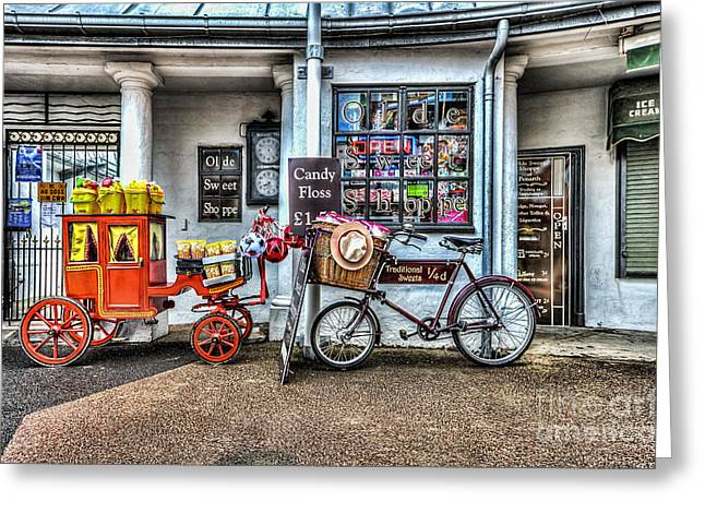Ye Olde Sweet Shoppe Greeting Card by Steve Purnell