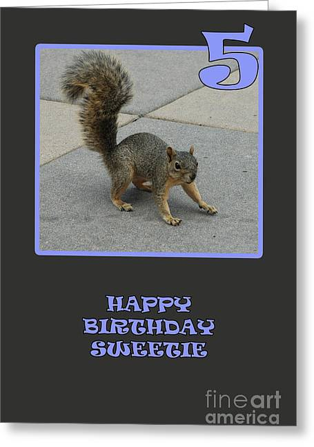 Greeting Card featuring the photograph 5 Years Old by Randi Grace Nilsberg
