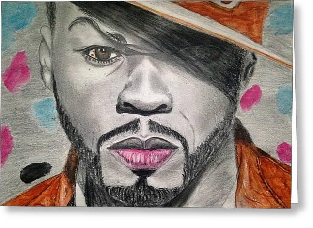 50 Cent Greeting Card by Abiodun Bewaji