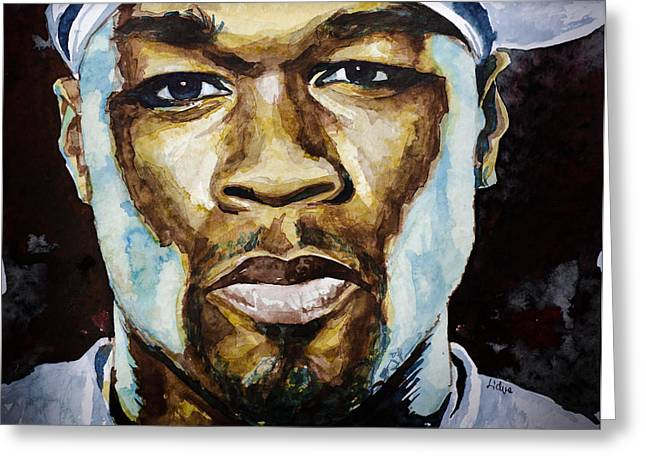 50 Cent Greeting Card