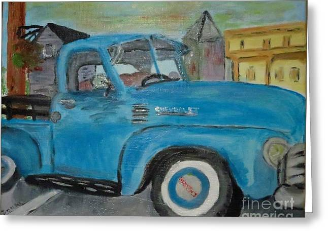 50 Chevy In Tannersville Greeting Card