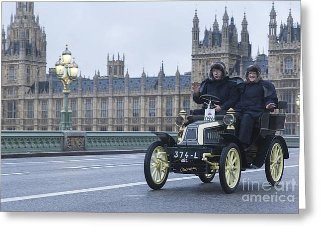 London To Brighton Veteran Car Rally Greeting Card by Philip Pound