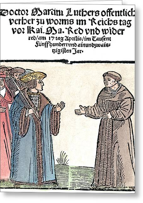 Martin Luther (1483-1546) Greeting Card