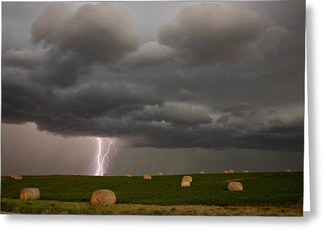 Prairie Storm Clouds Greeting Card by Mark Duffy