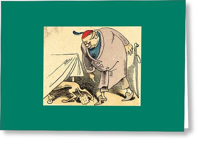Schnaken And Schnurren, 1866 Greeting Card by Busch, Wilhelm (1832-1908), German