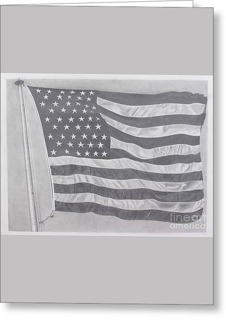 50 Stars 13 Stripes Greeting Card