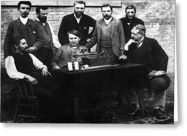 Thomas Edison (1847-1931) Greeting Card