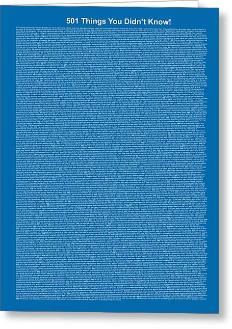 501 Things You Didn't Know - Blue Cadet Color Greeting Card