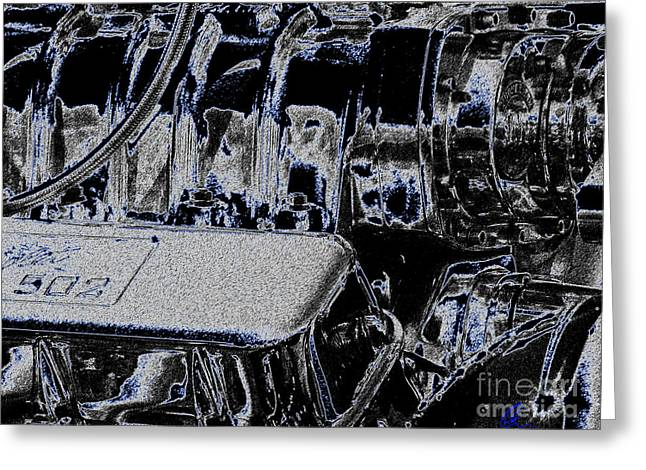 Greeting Card featuring the digital art 502 by Chris Thomas