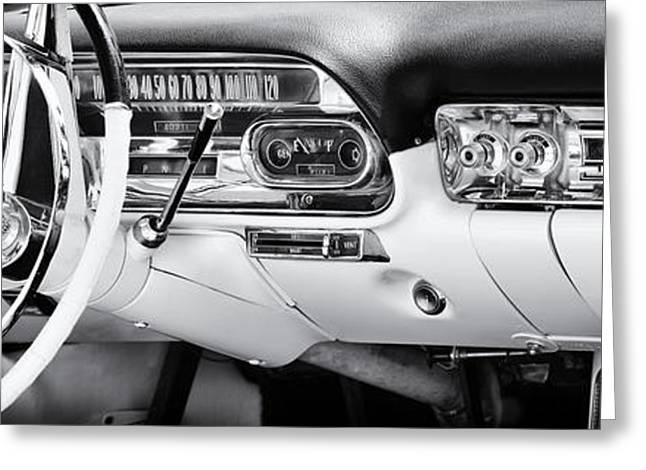 50s Cadillac Dashboard Greeting Card by Tim Gainey