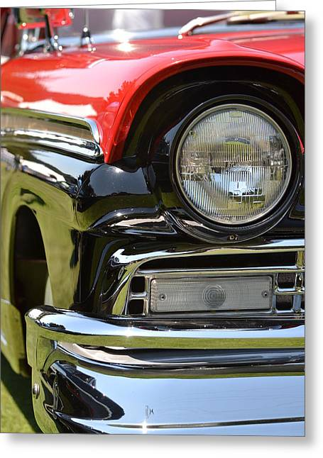 Greeting Card featuring the photograph 50's Ford by Dean Ferreira