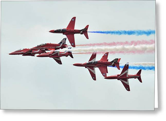 50th Anniversary 'red Arrows' Greeting Card