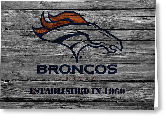 Denver Broncos Greeting Card