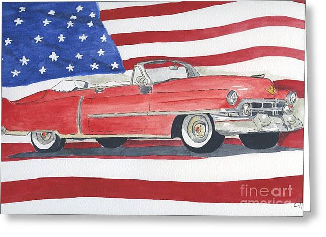 52 Cadillac Convertible Greeting Card