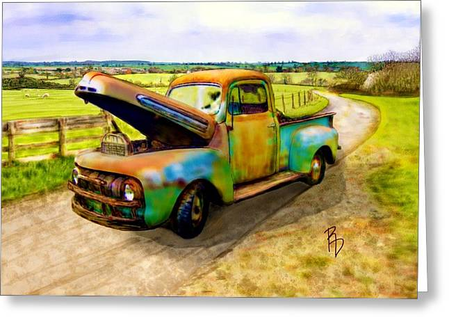 52 Ford F3 Pick-up Truck Greeting Card