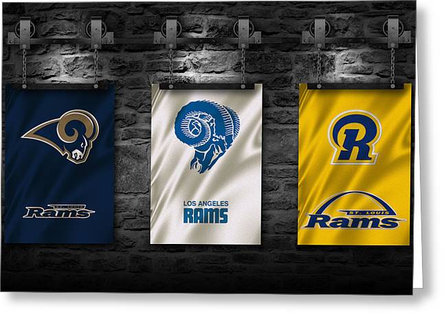 St Louis Rams Greeting Card by Joe Hamilton