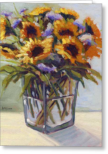 Greeting Card featuring the painting Summer Bouquet 4 by Konnie Kim