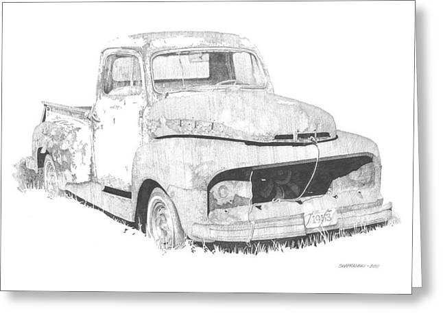 '53 Ford Greeting Card by Paul Shafranski