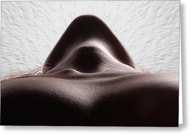 5338 Radiating Power A Fine Art Nude By Chris Maher 1 To 3 Ratio Greeting Card by Chris Maher
