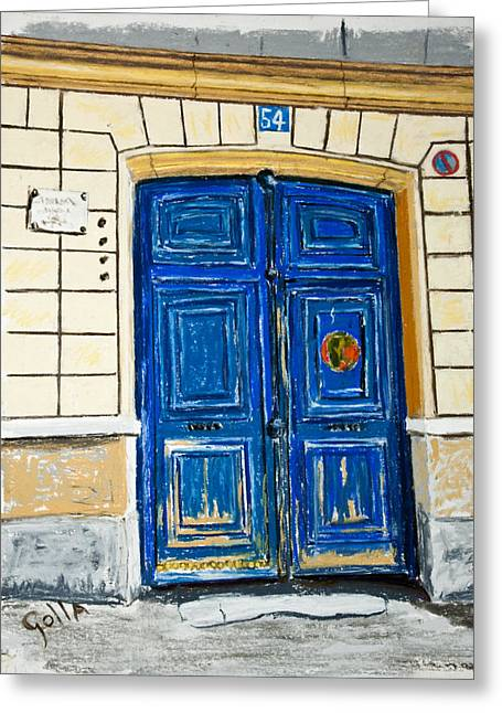 54 Rue Lepic  Greeting Card by Lawrence Golla