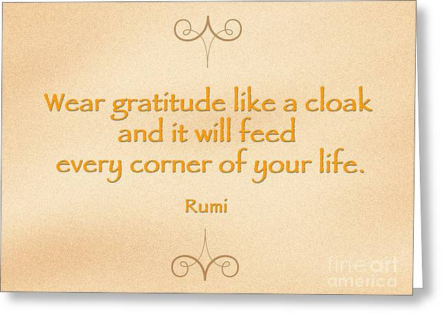 54- Rumi Greeting Card