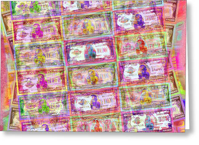 540 Million Dollars Red Pastel Greeting Card by Tony Rubino