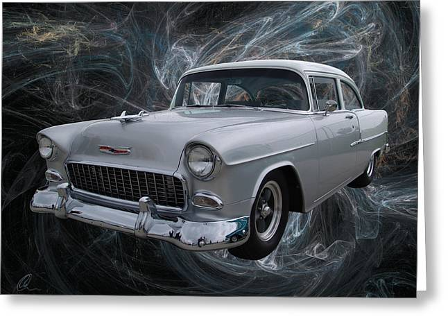 55 Chevy Greeting Card