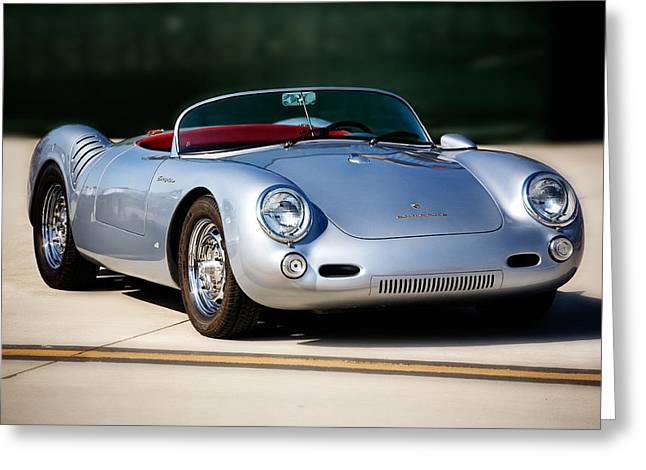 550 Spyder Greeting Card by Peter Tellone