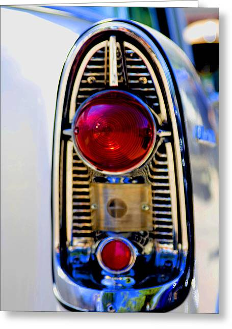 56 Chevy Tail Greeting Card by Terry Thomas