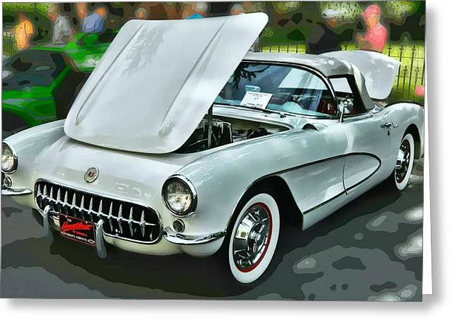'56 Corvette Greeting Card by Victor Montgomery