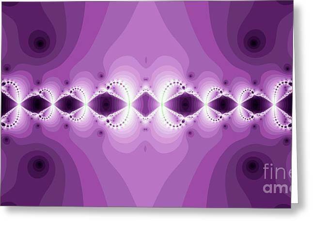 Fantasy Fractal Greeting Card by Odon Czintos