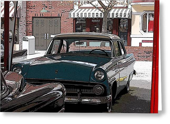 56 Ford Art01 Greeting Card